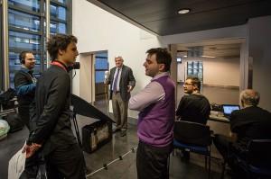 Alistair Spearing i altres viquipedistes al Parlament Europeu (Claude Truong-Ngoc, CC-BY-SA)