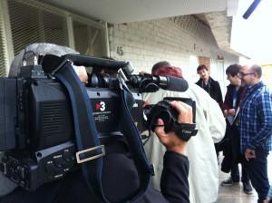 Càmera del 30 minuts durant la Viquitrobada 2013.