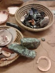 Detall de materials per a la recreació efectuada per Arqueolític.