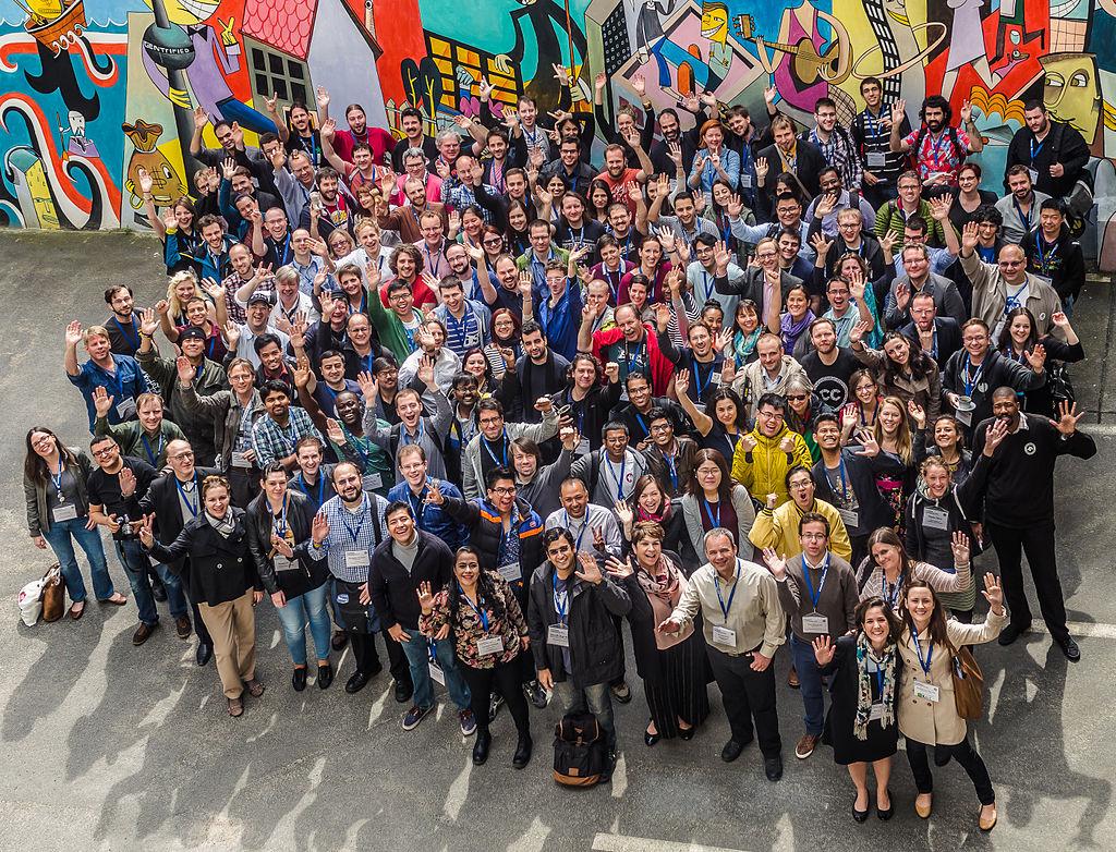 Foto de grup dels assistents de Wikimedia Conference 2015