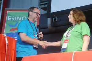 Jimmy Wales amb Rosie Stephenson-Goodknight
